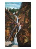 Colorado Springs, Colorado - South Cheyenne Canyon, Seven Falls View Poster von  Lantern Press