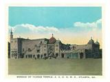 Atlanta, Georgia - Mosque of Yaarab Temple Exterior Print by  Lantern Press