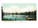 Rochester, New York - Scenic View from Rochester and Eastern Rapid Railway Art by  Lantern Press