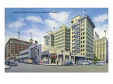 Portland, Oregon - Central Bus Depot Exterior View Prints by  Lantern Press