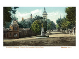 Saratoga Springs, New York - Congress Spring Park from Broadway Prints by Lantern Press