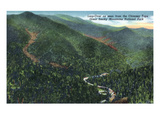 Great Smoky Mts Nat'l Park, TN - Loop-Over View from Chimney Tops Prints by  Lantern Press