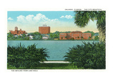 Orlando, Florida - Lake Eola View of the City Skyline Prints by Lantern Press