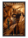 Seneca Caverns - Riverton, West Virginia Poster by  Lantern Press
