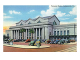 Jacksonville, Florida - Exterior View of Terminal Train Station Prints by  Lantern Press