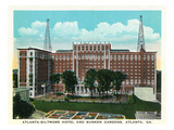 Atlanta, Georgia - Atlanta-Biltmore Hotel Exterior and Sunken Gardens View Prints by  Lantern Press