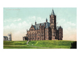 Syracuse, New York - Syracuse University, Crouse Hall Exterior View Poster by Lantern Press