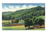 Tennessee - View of a Mountain Range Near Oak Ridge Poster by  Lantern Press