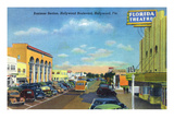 Hollywood, California - View Down Hollywood Boulevard Prints by  Lantern Press