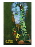 Lookout Mountain, Tennessee - Fairyland Caverns, Interior View of Jack and the Beanstalk Art by Lantern Press