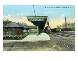 Auburn, New York - New York City Railroad Station Prints by  Lantern Press