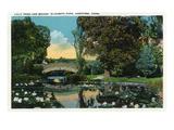 Hartford, Connecticut - Elizabeth Park Lily Pond and Bridge Poster von  Lantern Press