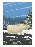 Albino Moose Prints by  Lantern Press