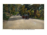 Maryland - National Road Shady Spot Near Hagerstown Poster by  Lantern Press