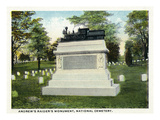 Chattanooga, Tennessee - National Cemetery, View of Andrew's Raiders' Monument Prints by  Lantern Press