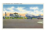 Philadelphia, Pennsylvania - View of the Philadelphia Airport Prints by  Lantern Press