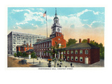 Philadelphia, Pennsylvania - Independence Hall from Chestnut Street Prints by  Lantern Press