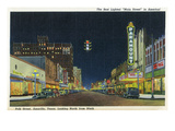 Amarillo, Texas - Northern View Up Polk Street from 9th Prints by  Lantern Press