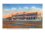 Barstow, California - Casa Del Desierto and Fred Harvey Hotel View Prints by  Lantern Press