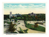 Cleveland, Ohio - University Circle Scene Prints by  Lantern Press