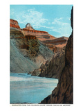 Grand Canyon Nat'l Park, Arizona - Zoroaster from Colorado River Print by Lantern Press