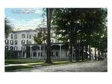 Saratoga Springs, New York - Dr. Strong's Sanitorium View Art by  Lantern Press