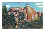 Colorado - View of Devil's Head Mountain Lookout Tower Kunstdrucke von  Lantern Press
