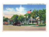 Abilene, Texas - Second Street USO Club View Prints by  Lantern Press