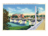 Schenectady, New York - Hotel Van Curler from Mohawk River Bridge Prints by  Lantern Press