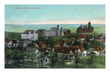 Syracuse, New York - Panoramic View of the University and Grounds Prints by  Lantern Press
