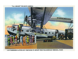 Miami, Florida - Boarding Scene at Pan-American Terminal Prints by  Lantern Press