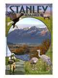 Stanley, Idaho - Town Scenes Poster by  Lantern Press