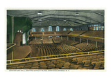 Saratoga Springs, New York - Convention Hall Interior View Prints by  Lantern Press