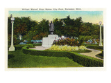 Rochester, Minnesota - City Park, View of the William Worrell Mayo Statue Prints by  Lantern Press