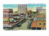 Orlando, Florida - Orange Avenue North Scene Poster by  Lantern Press
