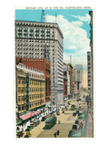 Cleveland, Ohio - Euclid Avenue, Hippodrome Exterior Poster by  Lantern Press