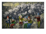 Lookout Mountain, Tennessee - Fairyland Caverns, Interior View with Jolly Gnomes Print by  Lantern Press