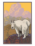 Mountain Goat Solo Posters by Lantern Press 