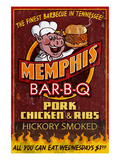 Memphis, Tennessee - Barbecue Prints by Lantern Press 