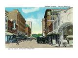 Orlando, Florida - Orange Avenue North from Pine Street Kunstdrucke von  Lantern Press