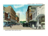 Orlando, Florida - Orange Avenue North from Pine Street Prints by  Lantern Press