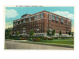 Rochester, Minnesota - Exterior View of St. Mary's Hospital Art by  Lantern Press