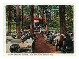 Old Orchard Beach, Maine - Camp Ground Grove Scene Affiches par Lantern Press