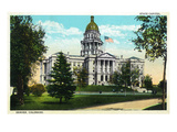 Denver, Colorado - Exterior View of the Capitol Building Art by  Lantern Press