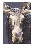 Moose Up Close Prints by  Lantern Press