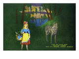 Lookout Mountain, Tennessee - Fairyland Caverns, Interior View of Little Red Riding Hood and Wolf Prints by Lantern Press