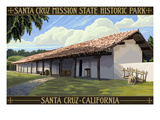 Santa Cruz Mission State Historic Park - Santa Cruz, California Print by  Lantern Press