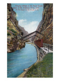 Royal Gorge, Colorado - Hanging Bridge over Arkansas River View Poster by  Lantern Press