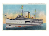 Santa Catalina Island, California - View of Steamer Catalina Prints by  Lantern Press
