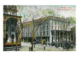 Saratoga Springs, New York - Worden Hotel Exterior View Prints by  Lantern Press